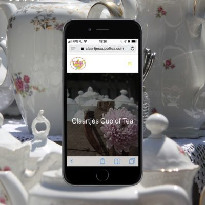 Portfolio: Claartjes Cup of Tea - een website voor een verhuurbedrijf van brocante servies