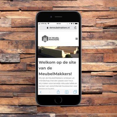 Portfolio - een website voor een meubelmaker
