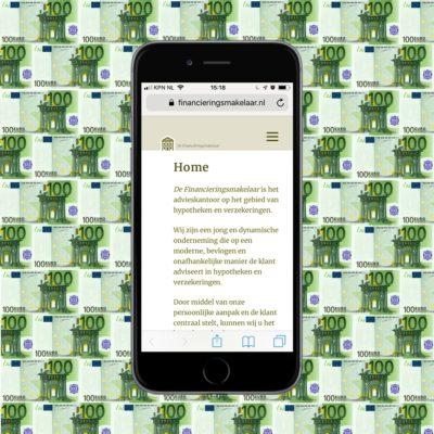 Portfolio - de financieringsmakelaar - een website voor een financiele dienstverlener