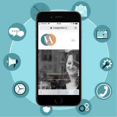 Portfolio - VraagAmber - een website voor een virtual assistant