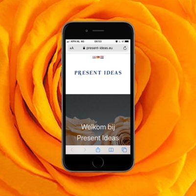 portfolio - website voor present ideas, relatiegeschenken in de vorm van geconserveerde rozen